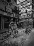 Kvinnor på arbete i Indien Arkivfoto