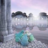 Kvinnor på Gangesen Royaltyfria Bilder