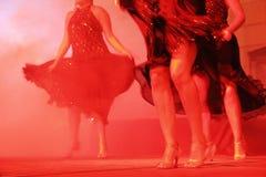 Kvinnor som dansar på partiet Royaltyfria Bilder