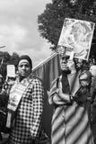 Kvinnor som visar mot israelisk ockupation royaltyfri bild