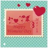Kvinnors dag stock illustrationer
