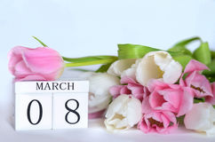 Kvinnors dag, mars 8 Arkivbild