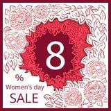 Kvinnors dagförsäljning Stock Illustrationer