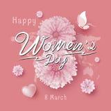 8 kvinnors för mars illustration för vektor för dag stock illustrationer