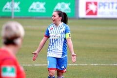 Kvinnors fotboll Fotografering för Bildbyråer