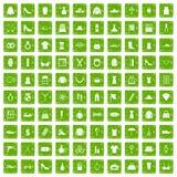 100 kvinnors gräsplan för grunge för tillbehörsymboler fastställd Arkivbild