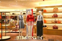 Kvinnors kläder på skärm Royaltyfria Foton