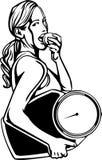 Kvinnors kondition - vektorillustration. Fotografering för Bildbyråer