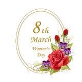 Kvinnors kort för daghälsning Royaltyfri Bild