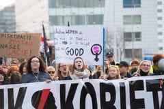 Kvinnors protest Royaltyfri Foto