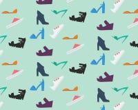 Kvinnors skomodell vektor illustrationer