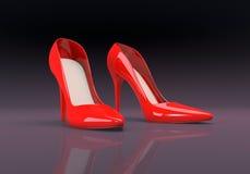 Kvinnors skor vektor illustrationer