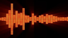 Kvitterar ljudsignal musik för EQ frambragd teknologi för nivåer den grafiska datoren lager videofilmer
