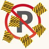 Kvittot av att parkera böter stock illustrationer