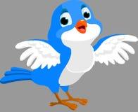 Kvittrar fågeln Arkivfoto