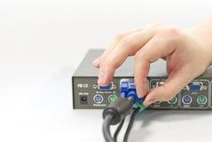 KVM Switch Stock Image