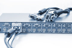 KVM Switch and Cables Stock Images