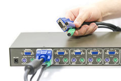 KVM Switch Royalty Free Stock Image