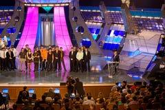 KVN - uno di russe più popolari TV-mostra Fotografie Stock Libere da Diritti