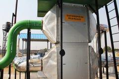 100 kW thermosiphon жары трубы воздуха подогреватель pre Стоковые Фотографии RF