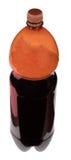 Kwaß in der Flasche mit braunem Cup Lizenzfreies Stockfoto