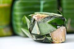 Kwaśna wieprzowina z agrestowymi liśćmi Zdjęcie Royalty Free
