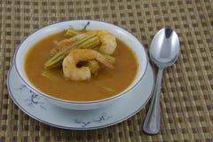 Kwaśny curry Moringa z garnelą Zdjęcie Royalty Free