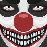 Kwaad Clown het glimlachen Gezicht stock illustratie