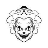 Kwaad clownart. Halloween-maskerillustratie royalty-vrije illustratie