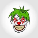 kwaad clowngezicht Royalty-vrije Stock Foto's