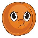 Kwaad gezicht van abrikoos vector illustratie