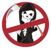 Kwaad skelet op verbod stock illustratie