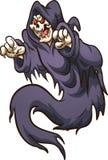 Kwaad vliegend Halloween-spook royalty-vrije illustratie