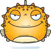 Kwaad Weinig Blowfish stock illustratie