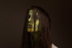 Kwaad zombiemeisje Royalty-vrije Stock Foto
