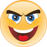 Kwaadwillige smiley Stock Foto