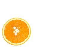 Kwabje van sinaasappel. Stock Fotografie