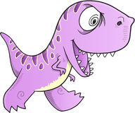 Kwade Dinosaurusvector royalty-vrije illustratie
