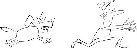 Kwade hond stock illustratie
