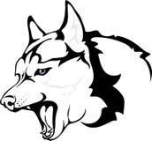Kwade Huskies royalty-vrije illustratie