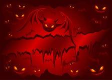 Kwade knuppels op rode achtergrond stock illustratie