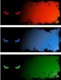 Kwade oogachtergronden Stock Afbeeldingen