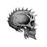 Kwade schedel royalty-vrije illustratie