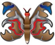Kwade vlinder Stock Fotografie