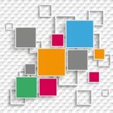 Kwadratów i ram projekta 5 opcje W kratkę Obrazy Royalty Free