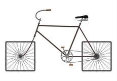 Kwadratów kół rower. Zdjęcie Royalty Free