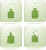 kwadrat alkohol butelkuje ikon olivine ustalonego kwadrat ilustracja wektor