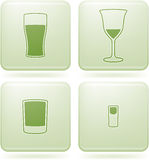 kwadrat alkoholu szklanego ikon olivine ustalony kwadrat royalty ilustracja