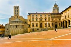 Kwadrat Arezzo w Florencja, Włochy obrazy stock