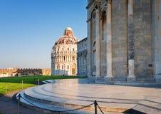 Kwadrat cudu piazza dei Miracoli w Pisa Zdjęcie Royalty Free